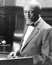 The Rev. I. Dequincey newman became the first black senator since reconstruction in 1983.
