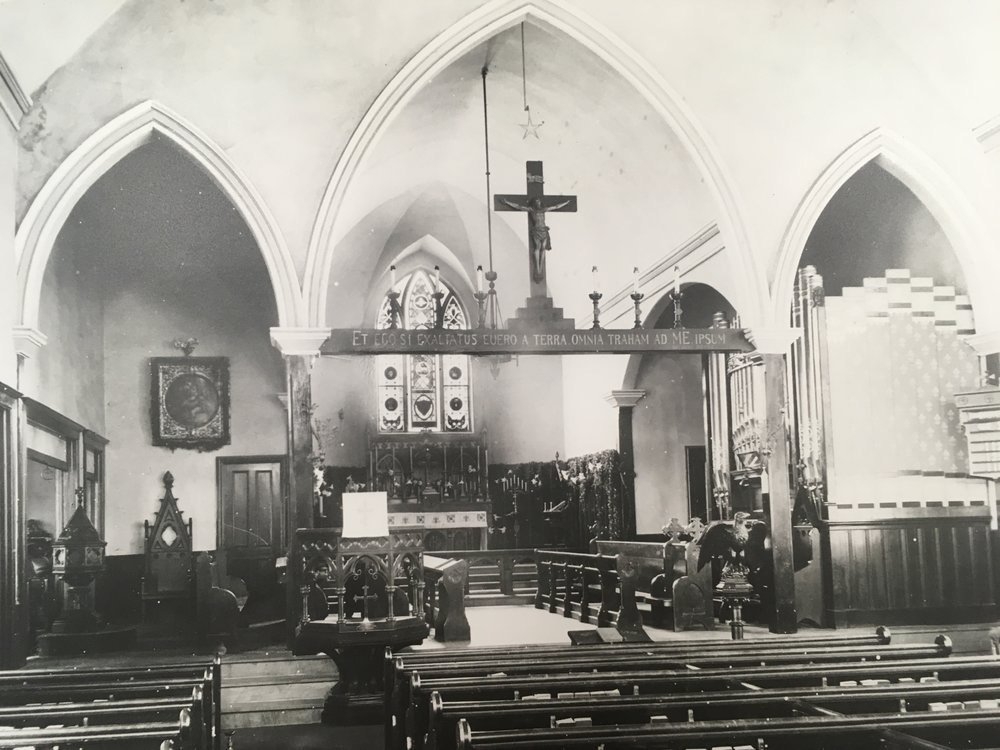The church interior, taken after 1911.
