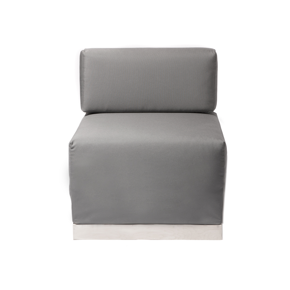 Modern Outdoor Armless Chair Section