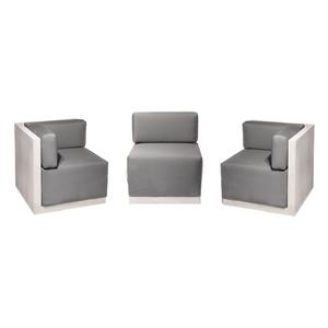 Modern Outdoor Corner Chair Section — Pennoyer Newman
