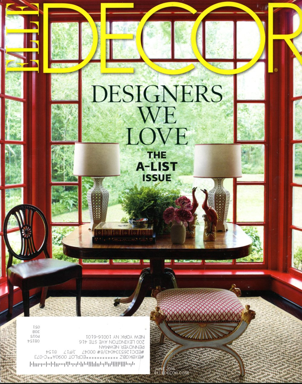 Pennoyer Newman in Elle Decor June 2016