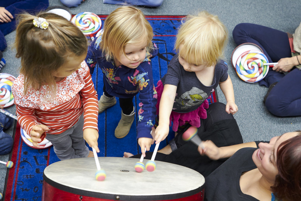 Little Mozarts - Recommended for ages Walking to 4 yearsThursday 10-11 AM10/4/2018 through 2/7/2019 Fall Semester 2/14/2019 through 5/9/2019 Spring SemesterThis course highlights musical games and movement activities to teach basic pitch and rhythm skills. Your child will discover music in a new and exciting way, combining the theories of Dalcroze Eurythmics, the rhythmic principles of Orff, and Kodaly's singing methodology.Fostering the emotional, physical, cognitive, social and aesthetic growth of each child through the discovery of essential musical elements. Parent participation is required for this course.