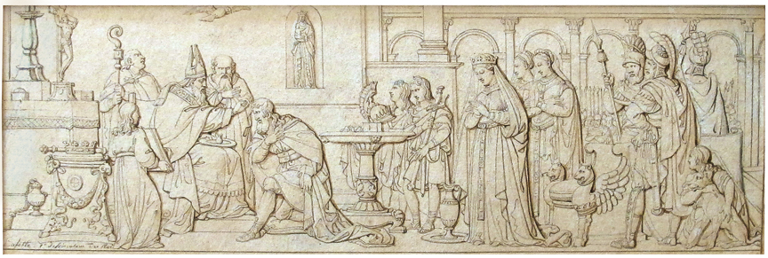 Louis Laffite (Paris 1770-Paris 1818), The Baptism of Clovis