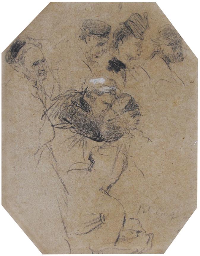 Jean-Baptiste Carpeaux (Valenciennes 1827 - Courbevoie 1875).  Personnages au Spectacle.