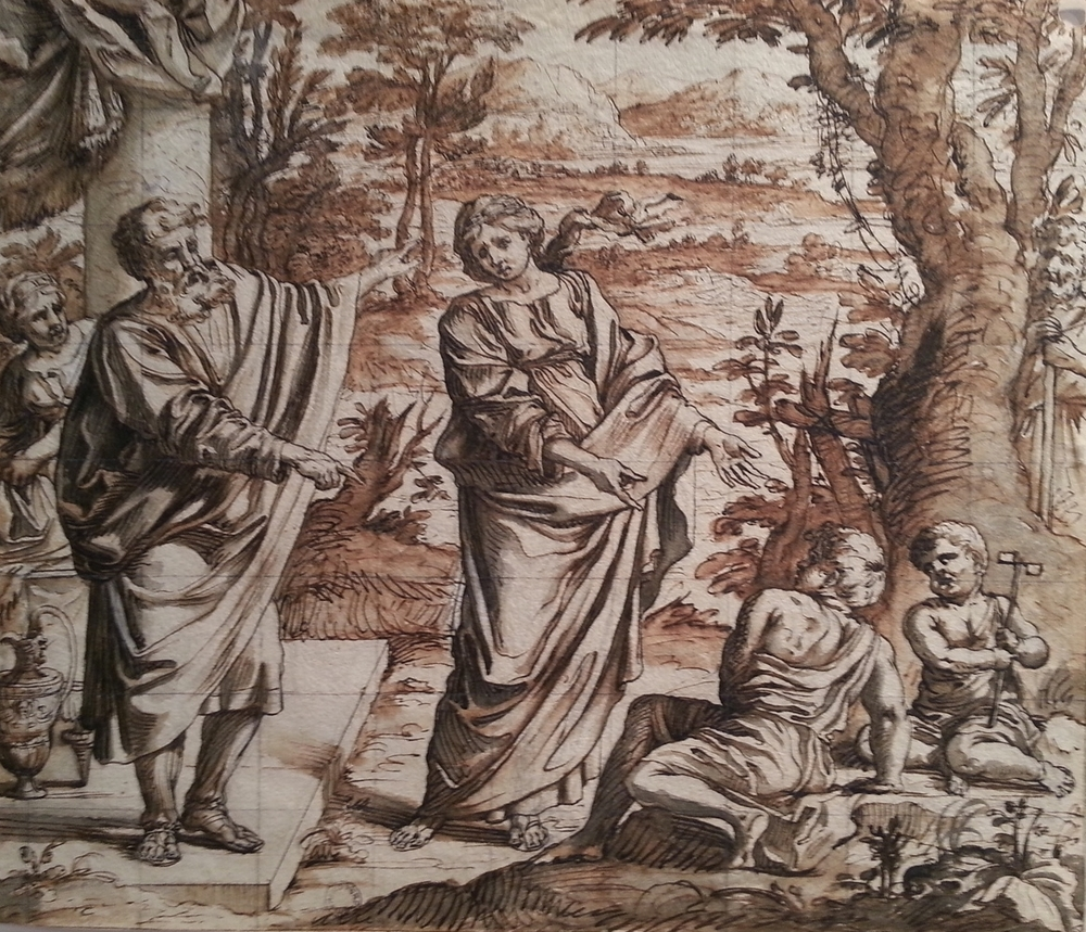 Roman School, late 17th century.  The Expulsion of Hagar.