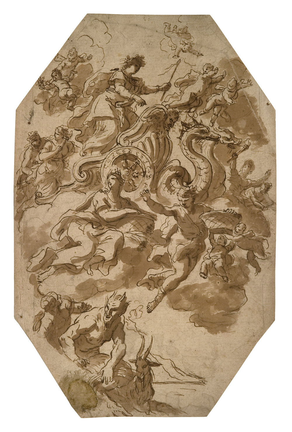 PAOLO DE MATTEIS,  Study of Ceres Driving a Chariot