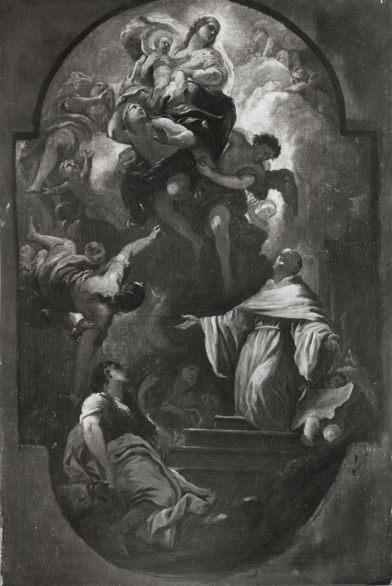 Luca Giordano's painting in the church of the Holy Annunciation in Florence