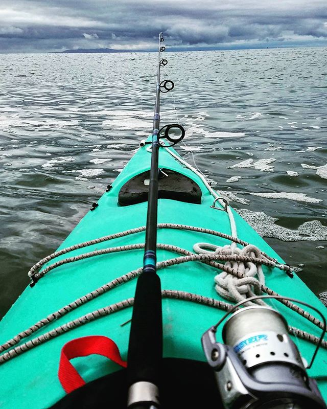 Sunday fishing off Ventura #kayakfishing #ventura #openocean