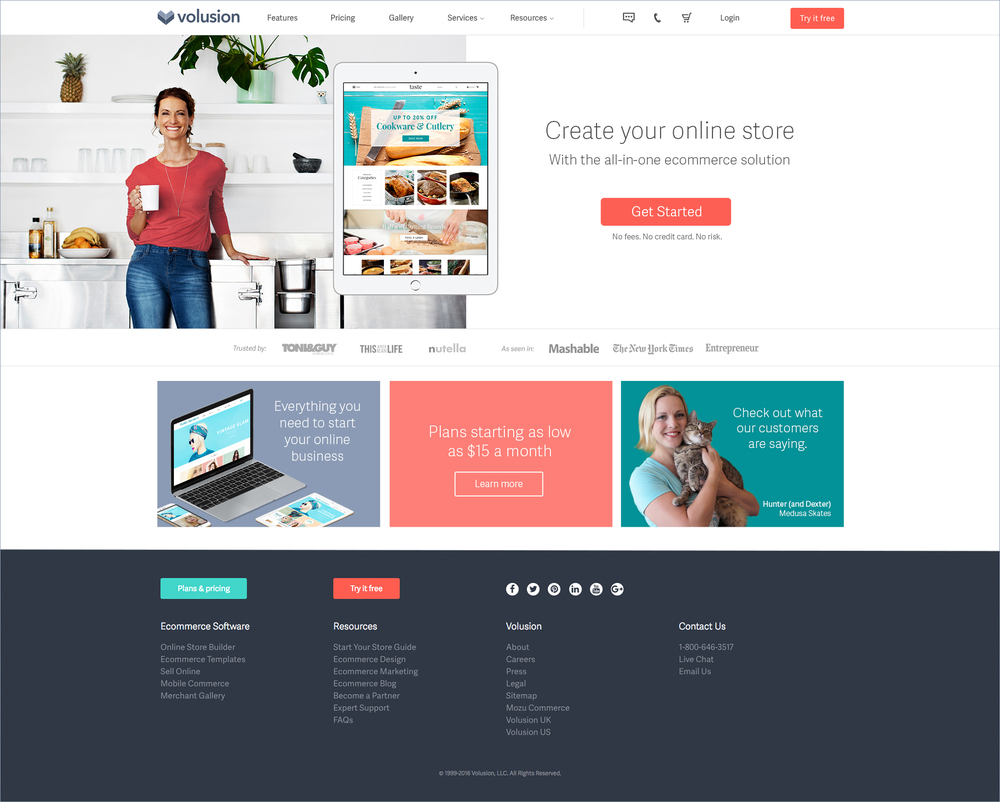 Short form homepage