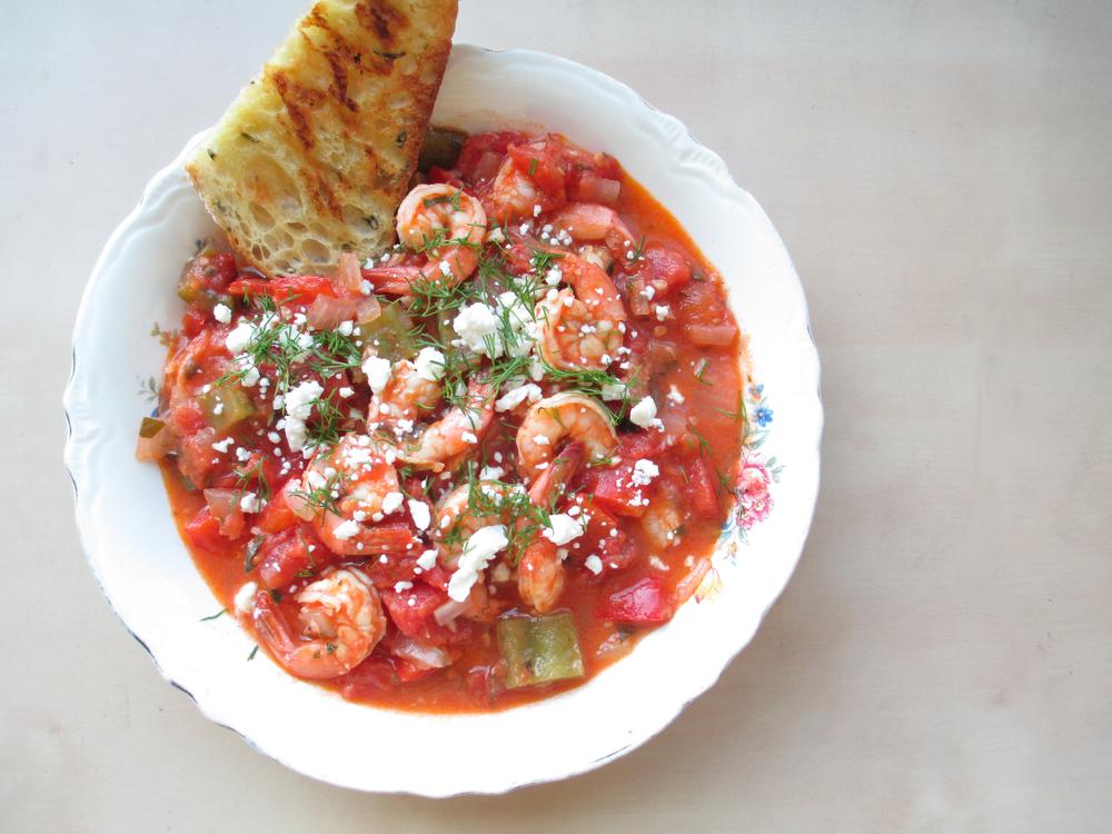 shrimp-saganaki
