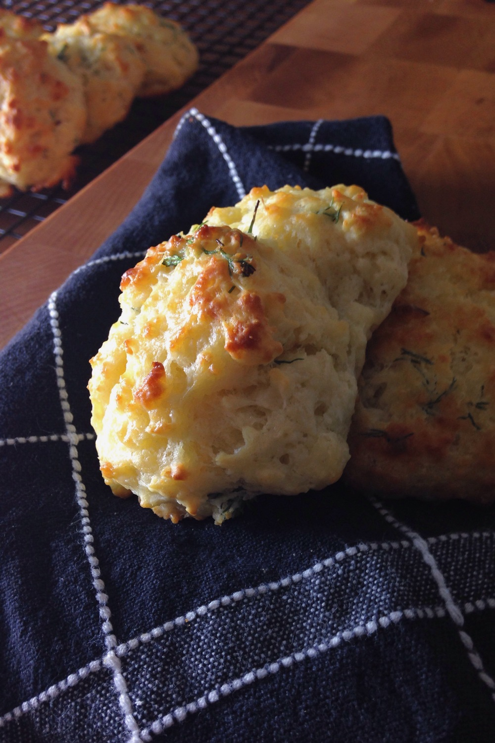 dill and parmesan biscuits