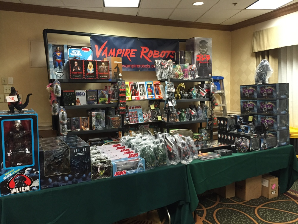 Here's the vampire robots set up at Monster Mania XXXI