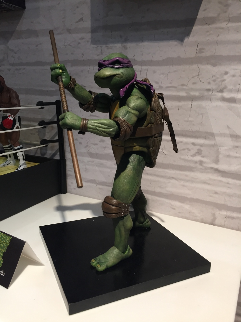 Prototype 1/4 scale Donatello from the 90s Ninja Turtles movies.