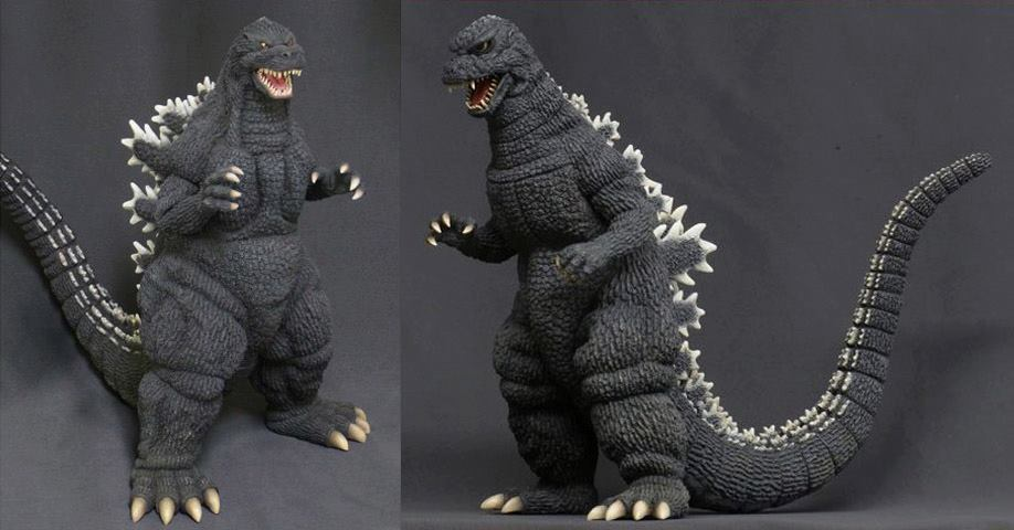 Godzilla'92 & Godzilla'84 30cm Vinyl Figures from X-plus, currently available for Pre-Order at Vampire Robots.