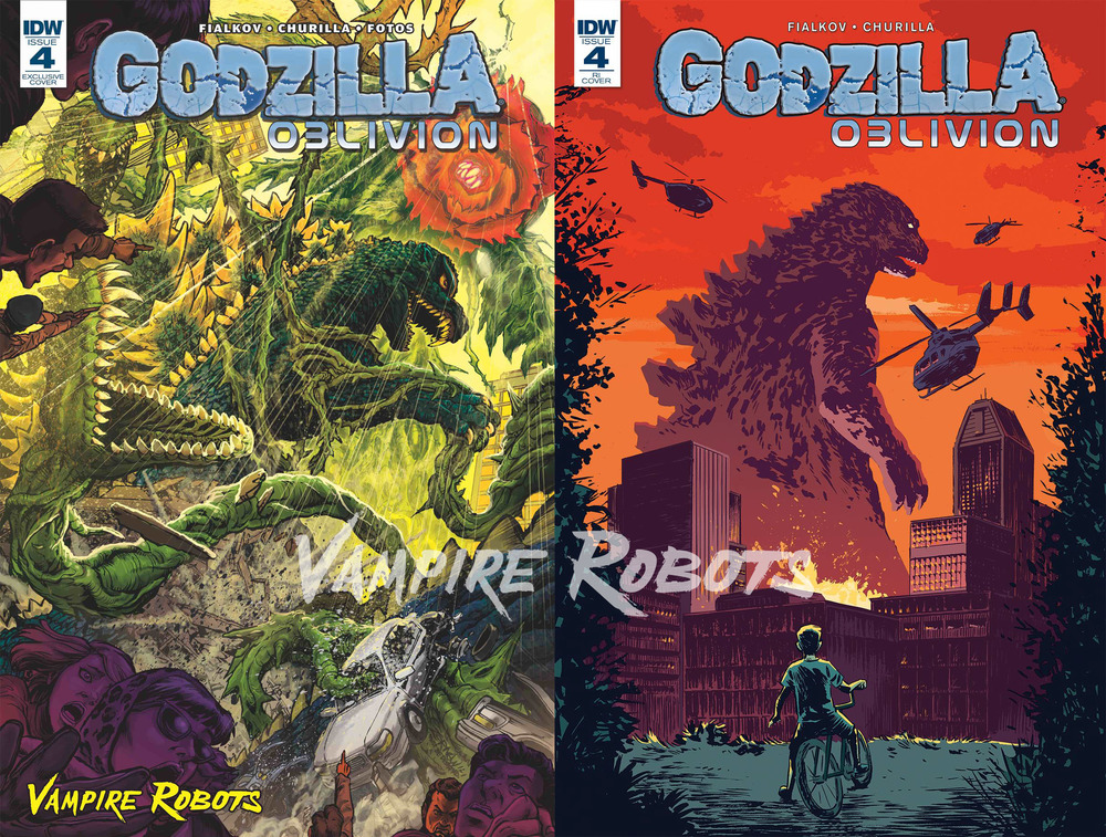 SURPRISE! We're going to have TWO GODZILLA OBLIVION #4 covers for G-fest. What the hell is happening exactly? Read more below!