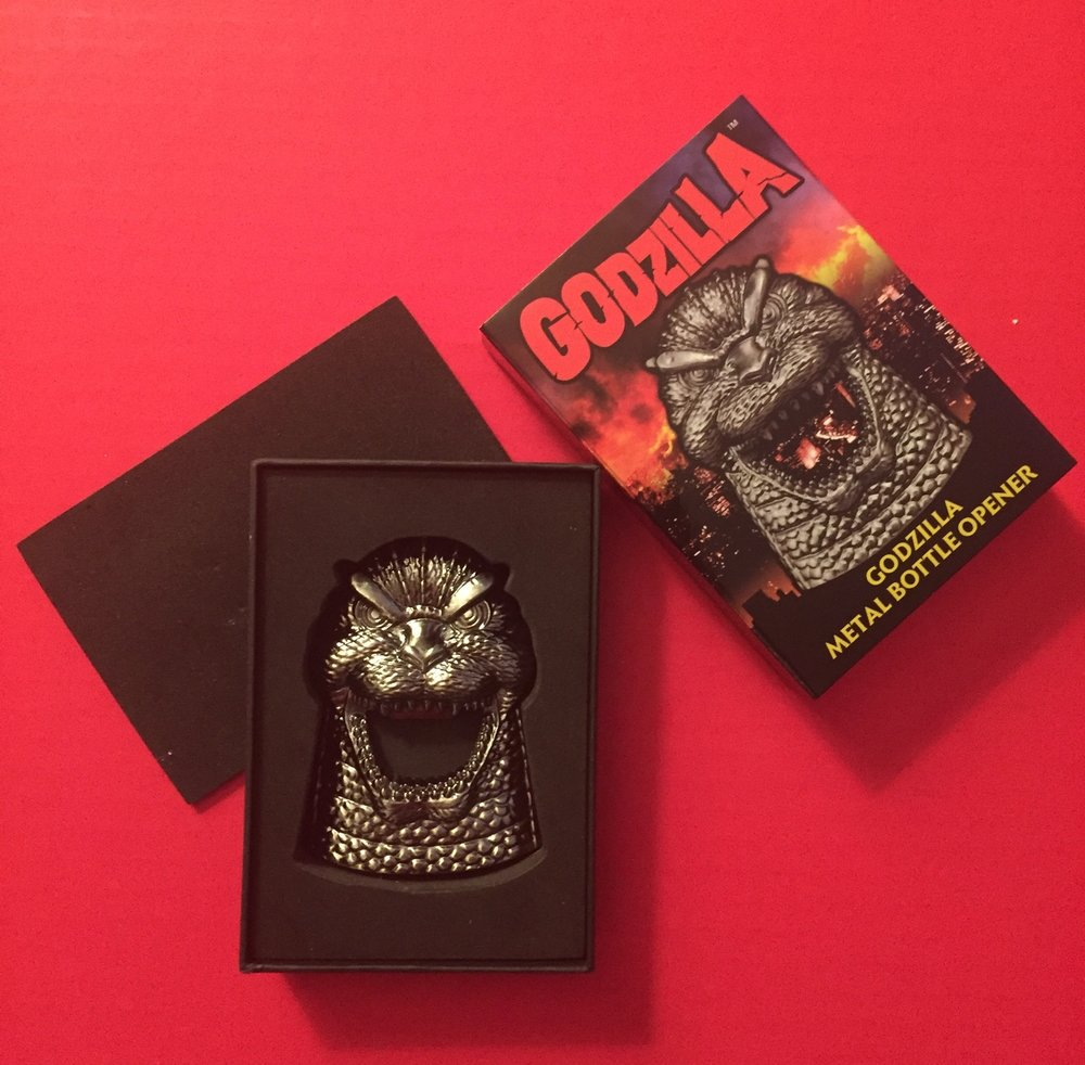 The best selling Godzilla magnetic bottle opener, from DST!