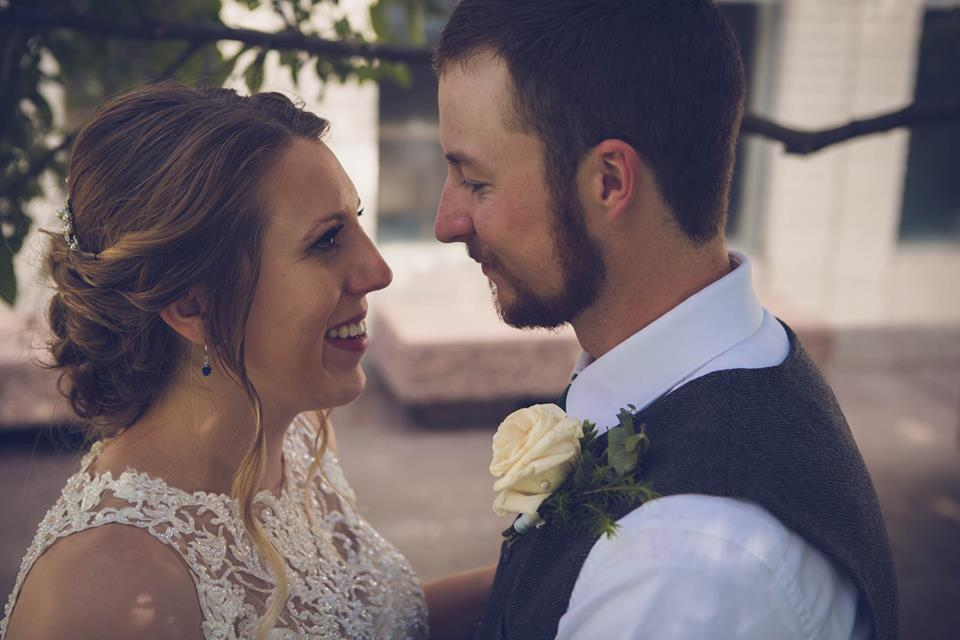 Stephen and Marissa Bartolic on their wedding day.