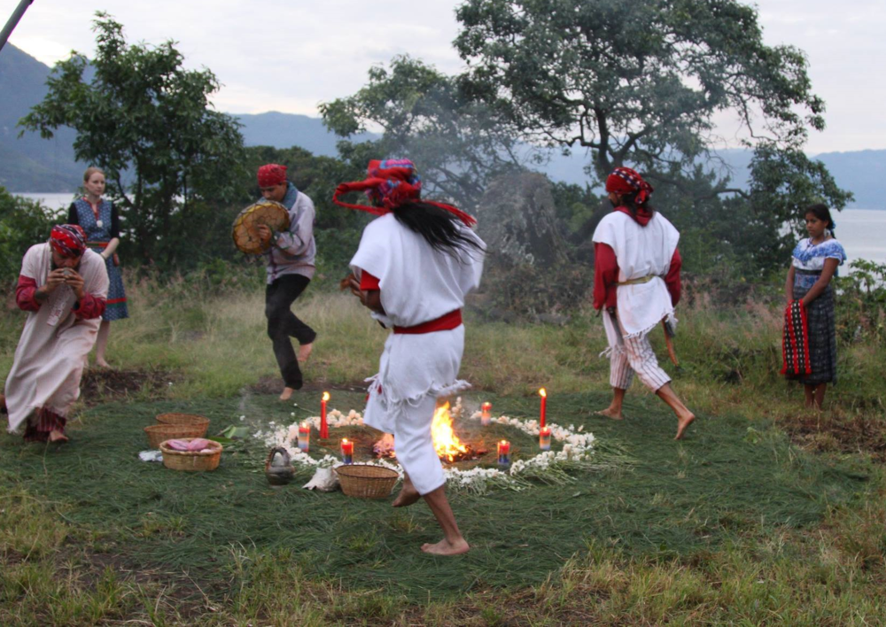 Mayan Fire Ceremony at Lake Atitlan