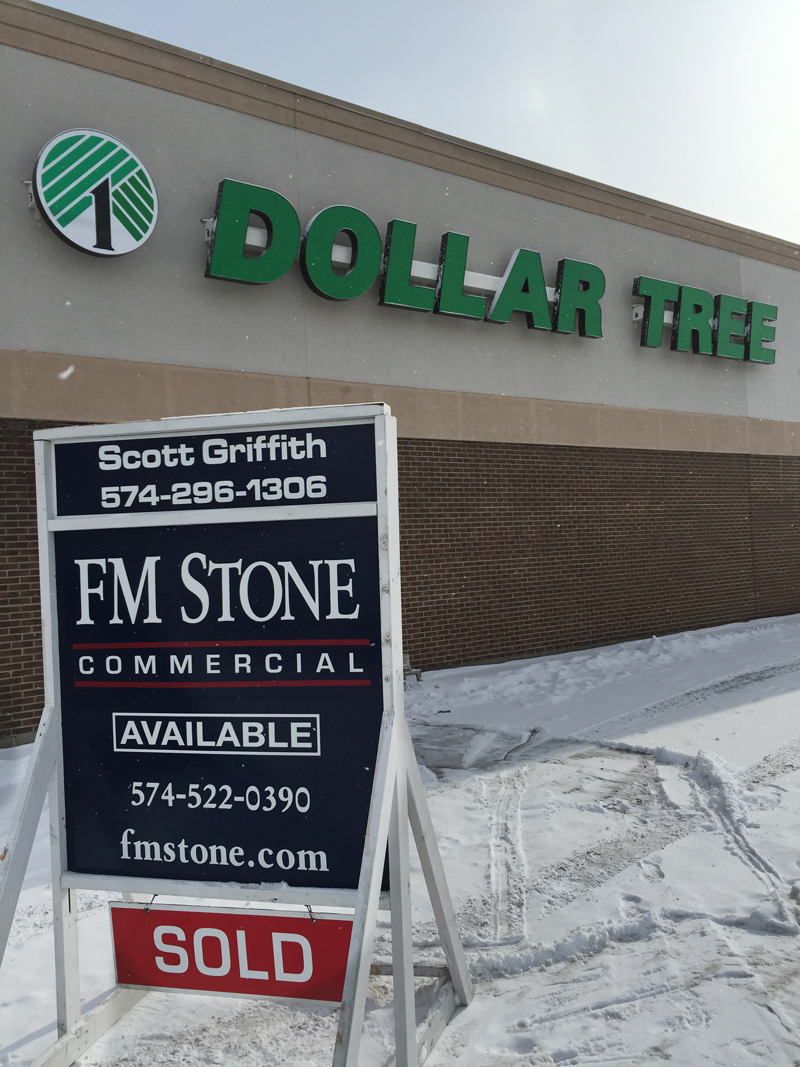 "Another property ""Sold"" by FM Stone at the corner of Main and Lusher in Elkhart!"