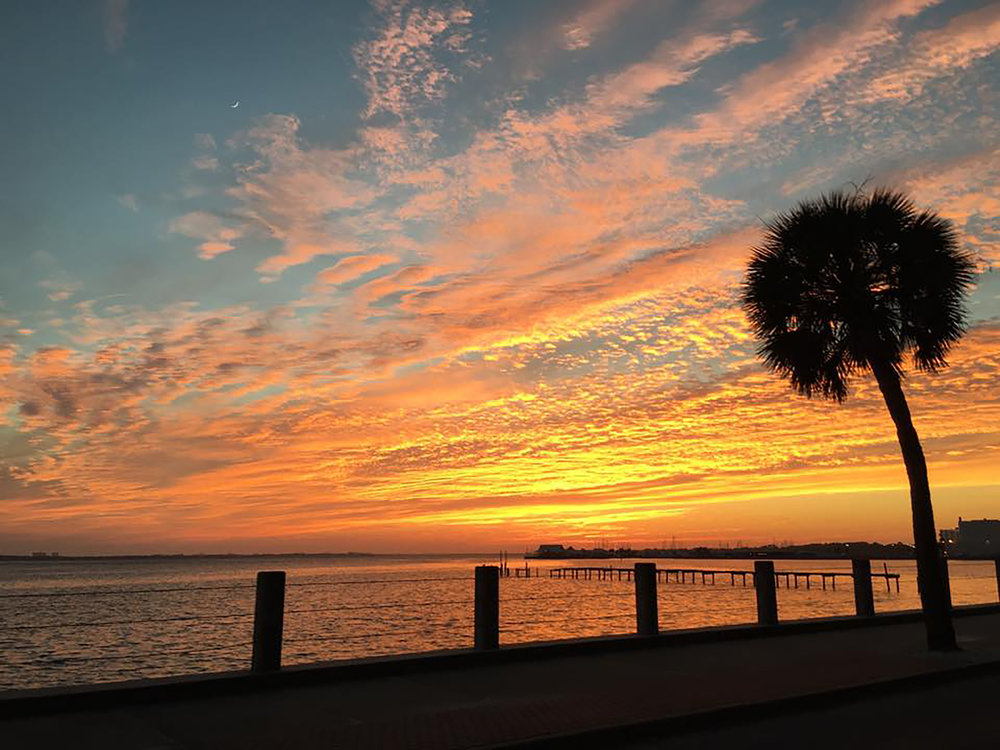 Sunset on Beach Drive in Panama City, Florida
