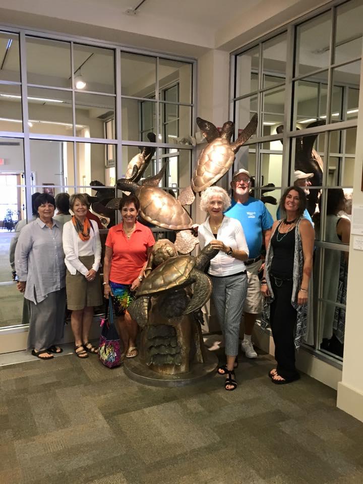 Paul Saviskas sculpture at Panama City Center for the Arts, Florida
