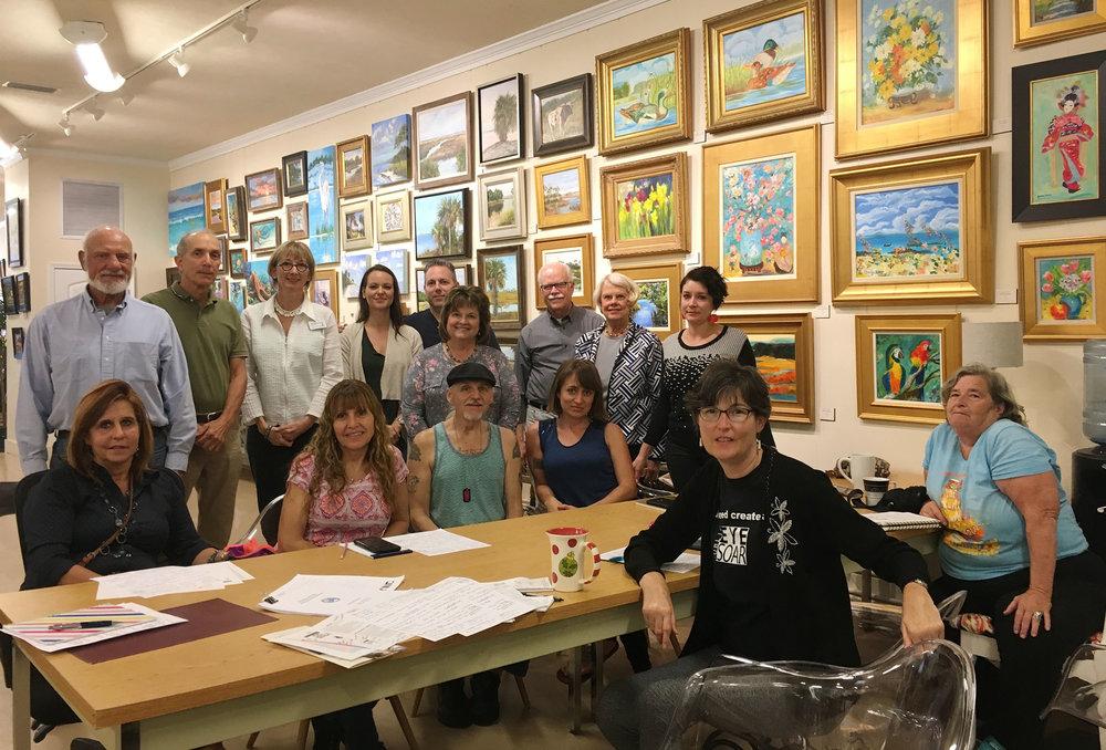 Our first ART WALK meeting. Panama City Florida