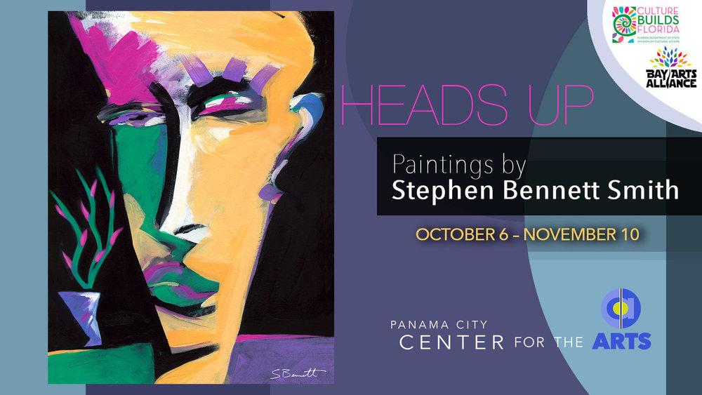 Stephen Bennett Smith - Heads Up! Artist Stephen Bennett Smith shows his vibrant contemporary portrait work in the Miller Gallery