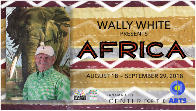 Wally White captures the feel of Africa with his oil paintings.