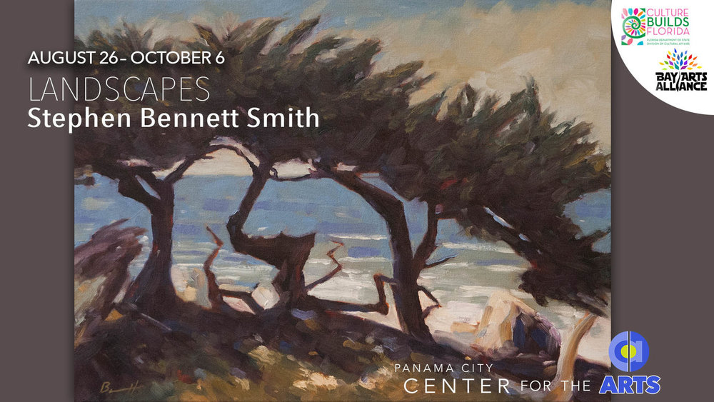 Stephen Bennett Smith's Landscapes are showing in the Higby Gallery now through October 6, 2018