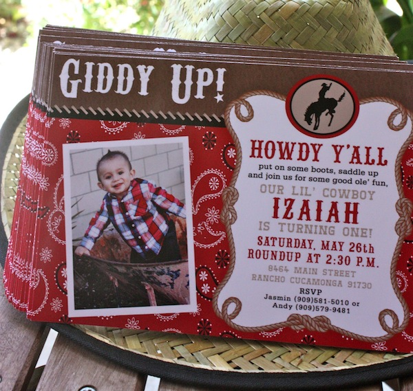 Cowboy First Birthday Invitations Image collections Invitation