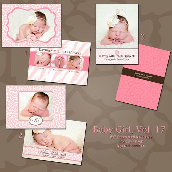 Birth Announcement Baby Album Templates