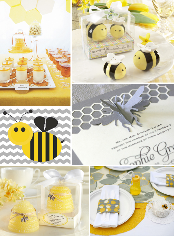 Bee Themed Baby Shower Inspiration By Kate Aspen Favors