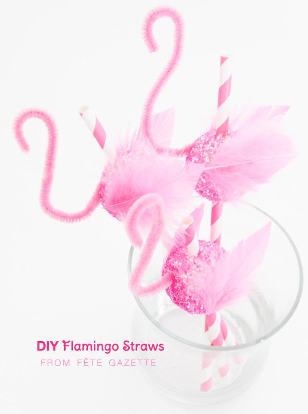 DIY Flamingo Straws : created by Fête Gazette | as seen on www.Best-BabySites.com