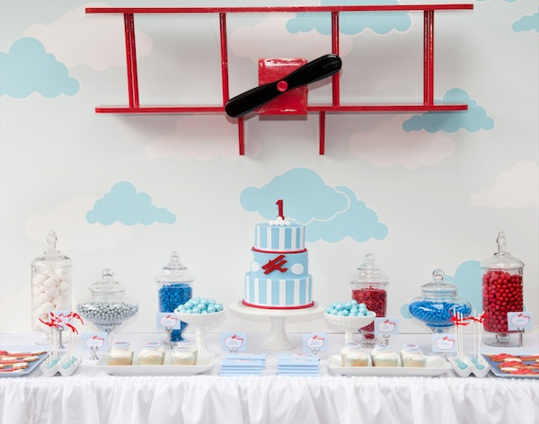 A Vintage Airplane First Birthday Party