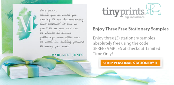 Tiny prints coupon code   5 free holiday card samples.