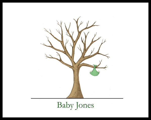 baby shower fingerprint guest books from guest tree