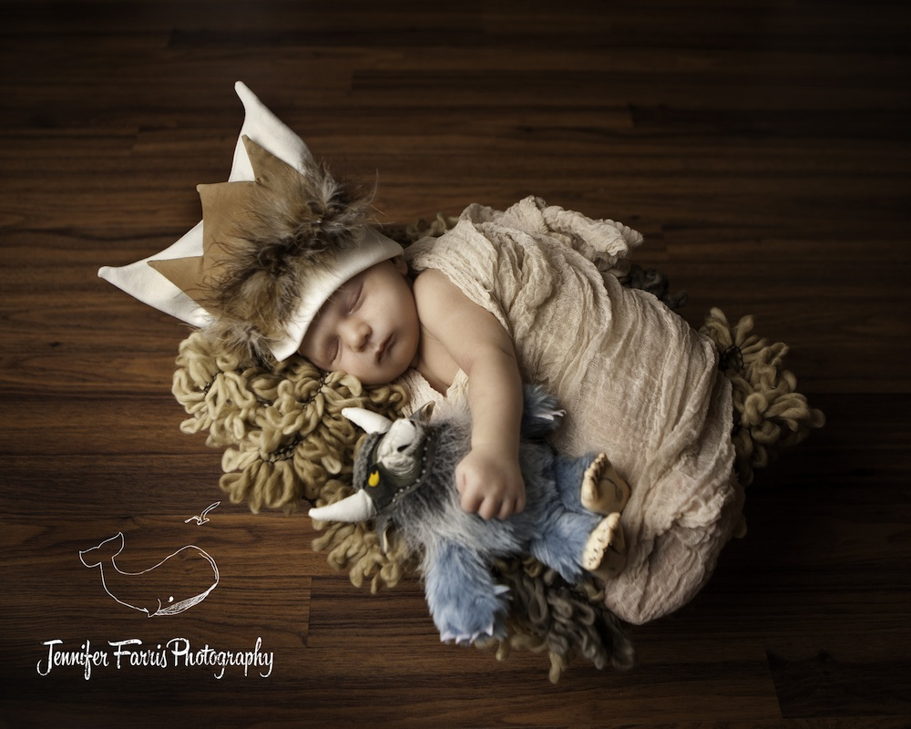 Where the Wild Things Are Themed Newborn Photo Session with Bernard | Jennifer Farris Photography | as seen on GiggleHearts.com