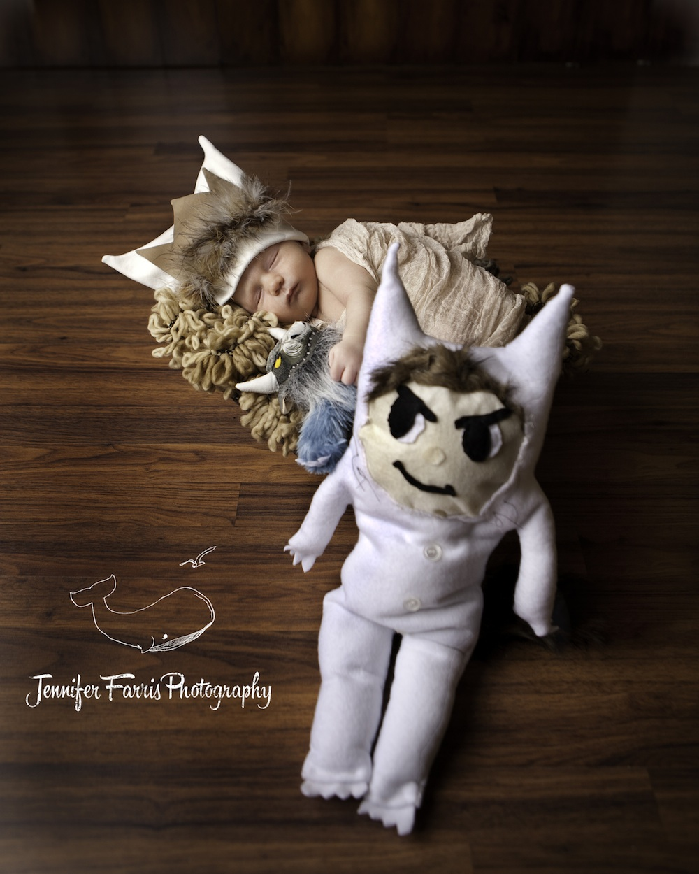 Where the Wild Things Are Themed Newborn Photo Session with Bernard and Max | Jennifer Farris Photography | as seen on GiggleHearts.com
