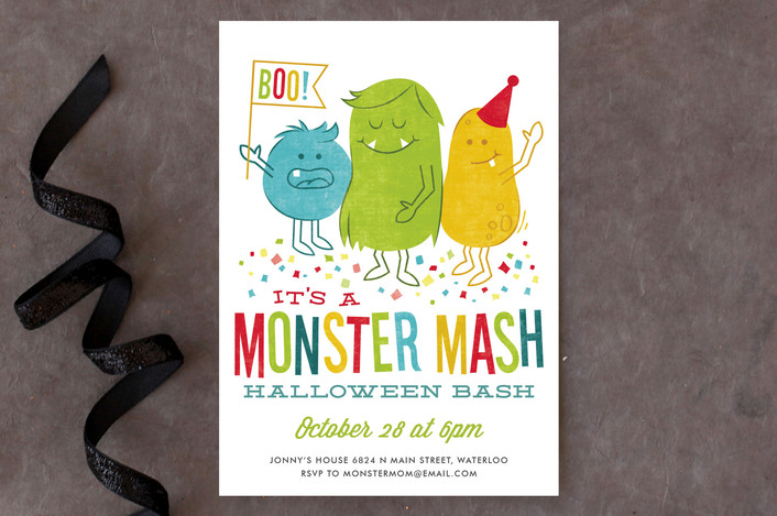 Monster Mash Holiday Party Invitations | as seen on www.GiggleHearts.com
