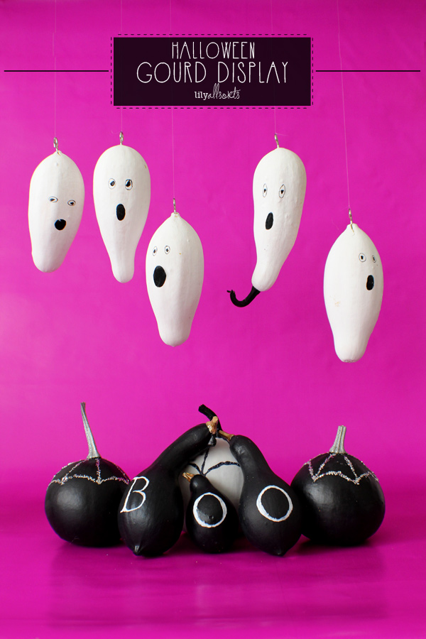 Painted Halloween Gourds   / www.lilyallsorts.com - shared on www.GiggleHearts.com