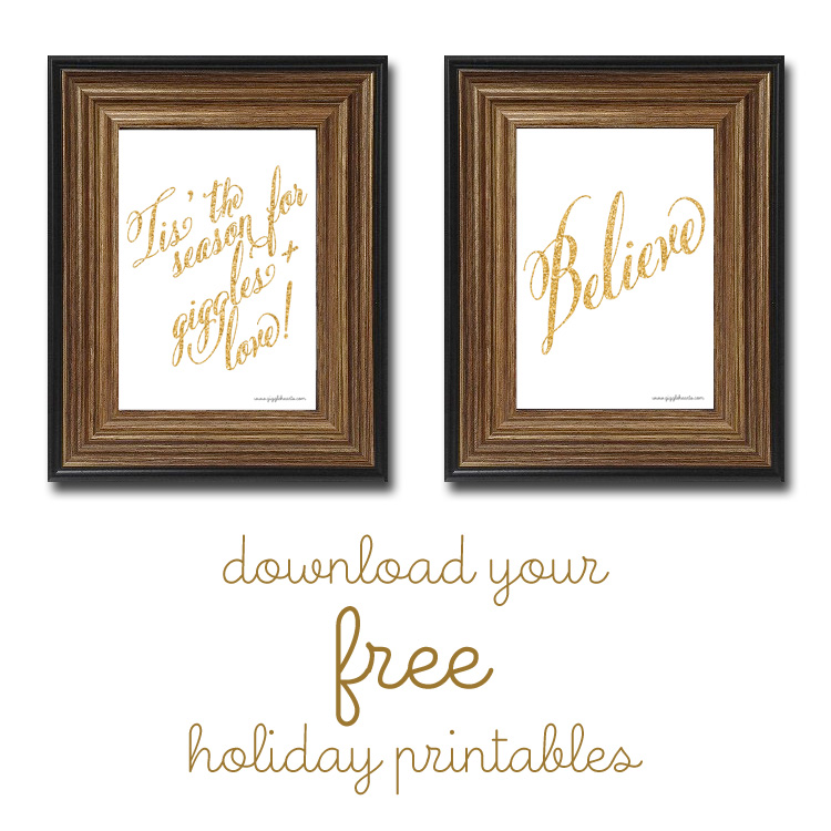 Come Read the very first Giggle Hearts Holiday Gift Guide and then download your free Glittery Holiday Printables