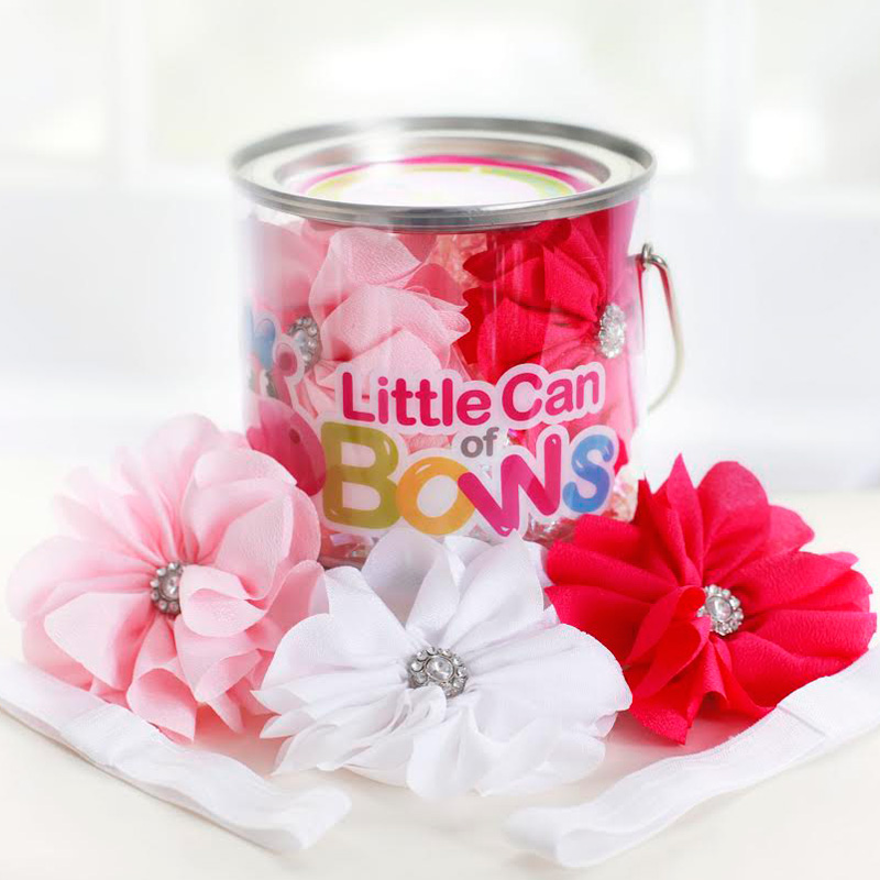 The Sweetest Gift for Girls from Newborn to Tweens {even adults} : Little Can of Bows / as seen on www.GiggleHearts.com
