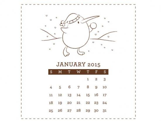Free Calendar Printable from Kiwi Crate that can be printed and colored by your kids / as seen on www.GiggleHearts.com