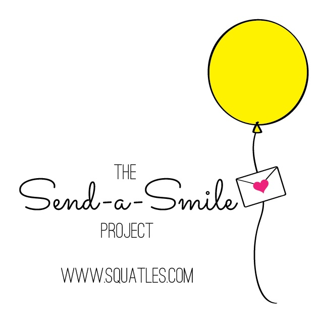 Come Be a Part of The Send-a-Smile Project - a monthly reminder to send someone a card or note via snail mail to brighten their day / as seen on www.GiggleHearts.com