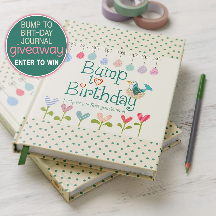 "Enter to Win a Bump to Birthday ""pregnancy and first year journal"" on www.GiggleHearts.com"