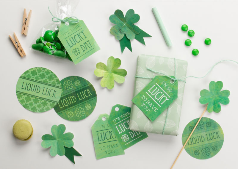 Lucky Green Printable Set for St. Patrick's Day from Tiny Me / as seen on www.GiggleHearts.com