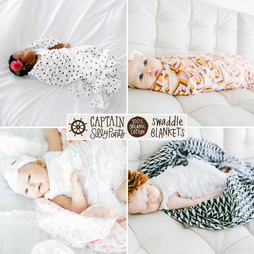 Captain SillyPants Swaddle Blankets / the perfect baby shower gift / as seen on www.GiggleHearts.com