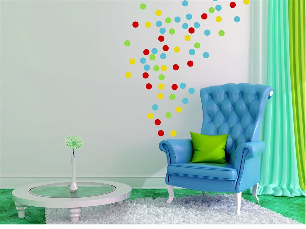 Confetti Wall Decals to Dress Up Any Room or Party Backdrop / as seen on www.GiggleHearts.com