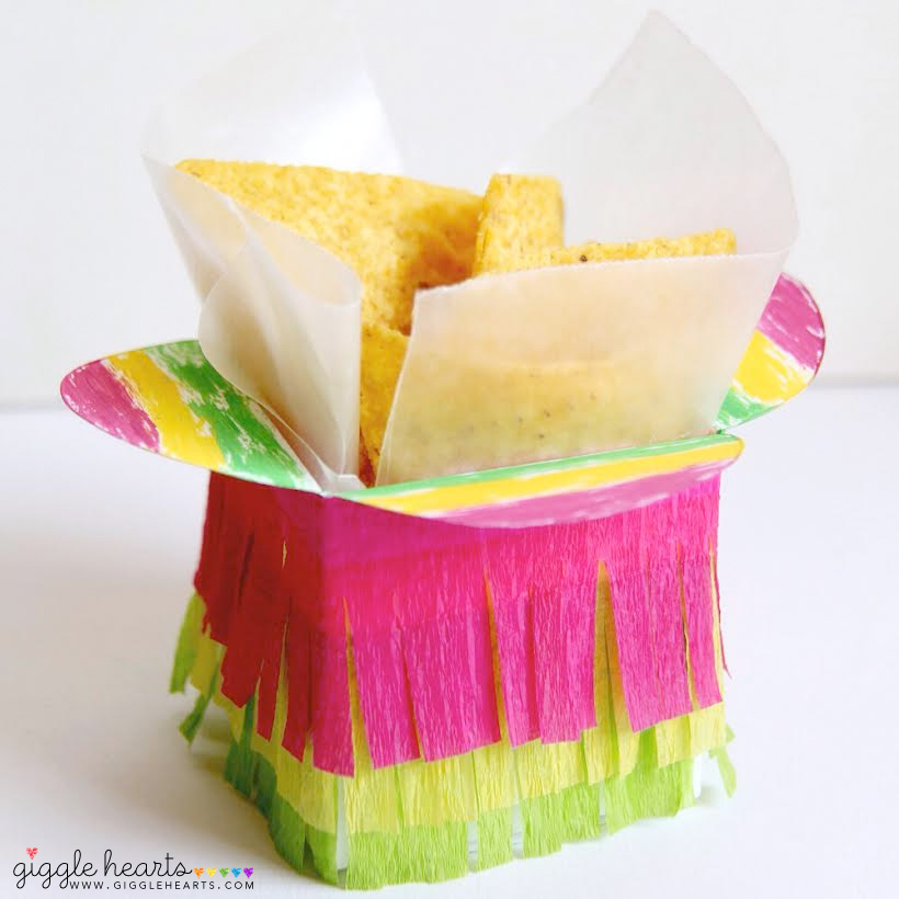 DIY Fiesta Taco Boxes - fun for taco bars and taco dinners / as seen on www.GiggleHearts.com