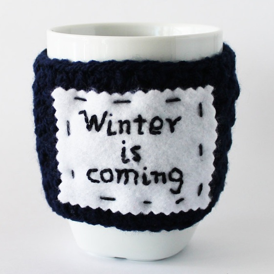 Winter is Coming Holiday Themed Cozy for Coffee and Tea Mugs